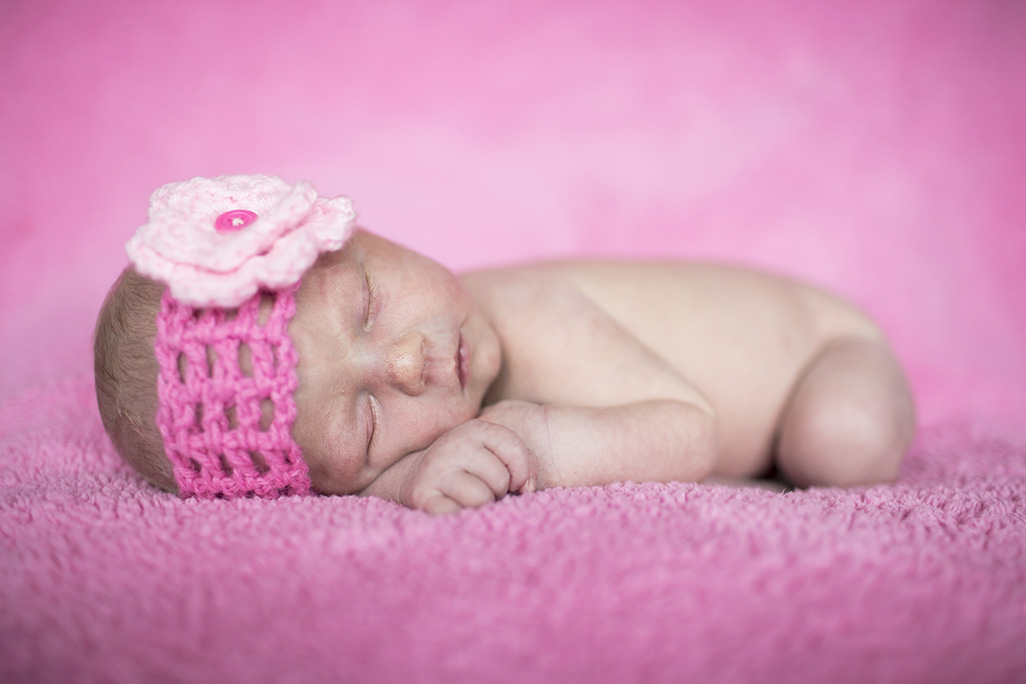 Creative newborn photo