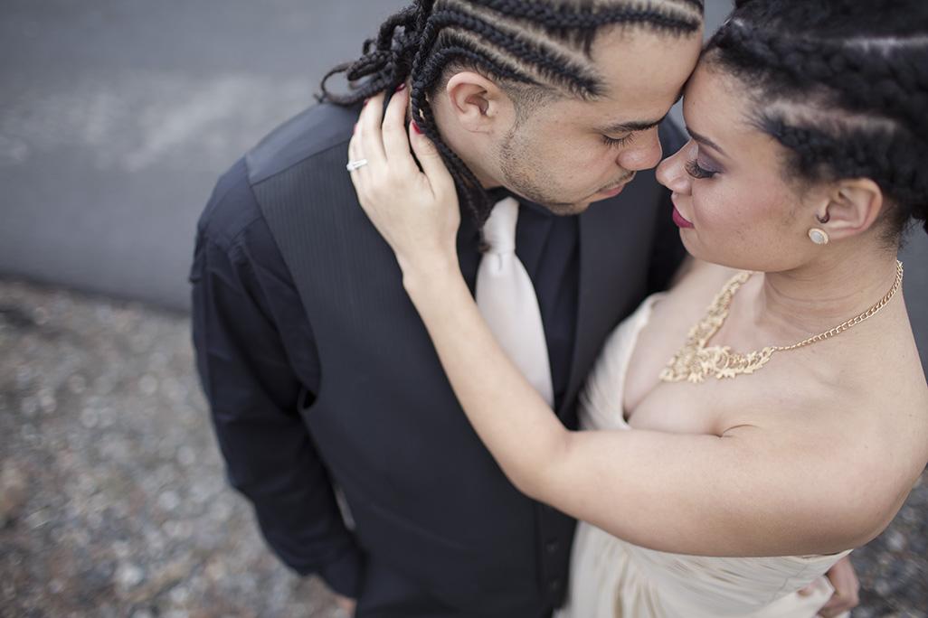 Wedding photo shoot in downtown Spokane, WA