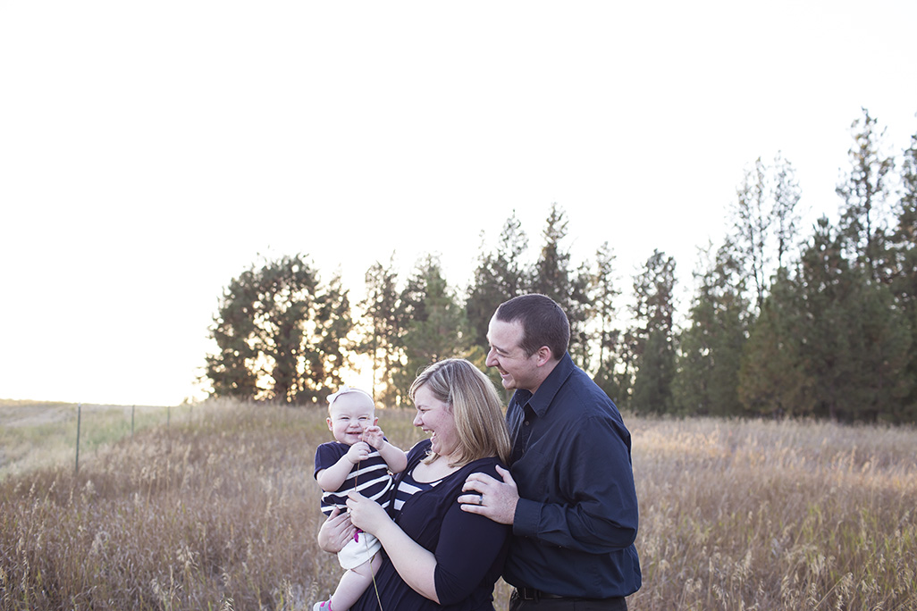 Family in the prairie